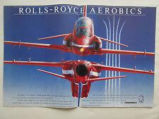 8/1990 PUB TURBOMECA ROLLS-ROYCE ADOUR RAF HAWK RED ARROWS AEROBATIC TEAM AD