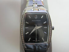 #318 ladys stainless steel 40 diamondACCUTRON lucerne 26R32 watch MSRP $995.