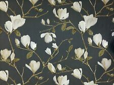 PRESTIGIOUS SAYURI PEWTER GREY FLORAL CURTAIN FURNISHING COTTON FABRIC PER~M