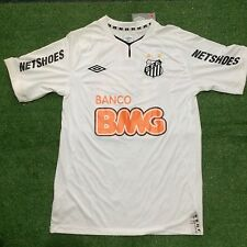 Mens Umbro Santos Home 2011 Size G #10 Ganso New With Tag Football Trikot
