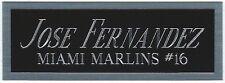 JOSE FERNANDEZ MARLINS NAMEPLATE FOR AUTOGRAPHED Signed Baseball CUBE CASE