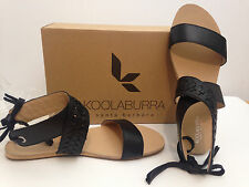 Koolaburra Black Alexa Leather Gladiator Sandal US 9/EUR 40 Gorgeous NIB