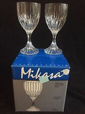 "MIKASA PARK LANE CRYSTAL WINE GOBLETS   6 3/8"" - SET OF 4 WINES IN ORIGINAL BOX"