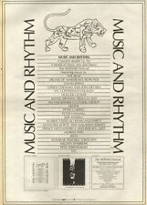 17/7/82Pgn44 Advert: music And Rhythm Benefit Double Album For Womad 15x11