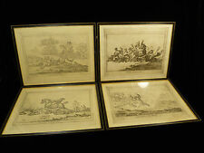 FOUR COMEDIC BRITISH FOX HUNTING PRINTS BY GILLRAY & PUB. BY HUMPHREY - C. 1800