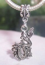 Dragon Mythology Fantasy Animal Dangle Bead fits European Style Charm Bracelets