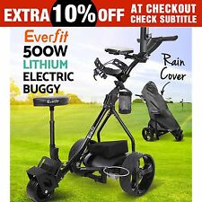 Everfit 500W Electric Golf Buggy Folding Trolley Caddy Motorised Lithium Battery