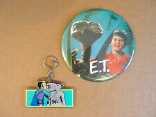 "E.T. & Me Keychain and 6"" Big Button"