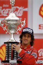 """F1 Driver FORMULA UNO ALAIN PROST firmato a mano foto McLaren 12x8"""" come"""