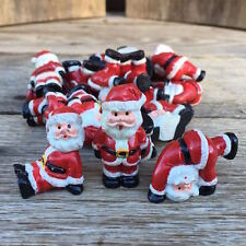24 BULK WHOLESALE Figural 1960s SANTA CLAUS Figurines CUPCAKE Toppers Christmas