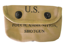 Shotgun Ammunition Pouch - Repro WW2 US American Webbing Shells Carrier Khaki