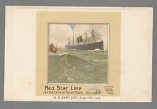 [53350] OLD CASSIERS POSTCARD RED STAR LINE S.S. ZEELAND JUNE 18th, 1905