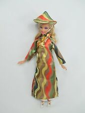 Handcrafted Barbie Outfit Traditional Vietnamese vintage style costume Dress #03