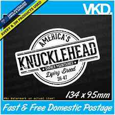 Knucklehead Sticker/ Decal - Harley Davidson Motorbike Chopper Bobber Man Cave