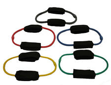 SET OF 5 WORKOUTZ ANKLE STRETCH CUFF LATERAL RESISTANCE BANDS BUTT LIFT EXERCISE