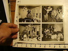Vintage MARIONETTE & PUPPET Photo: 4 PHOTOS ON PAGE OF MAN DOING A PUPPET SHOW