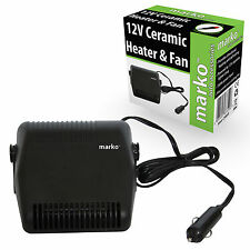 12V CERAMIC HEATER & FAN DC CIGARETTE LIGHTER INTERIOR DEFROSTER DEMISTER WINTER