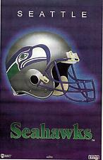 Seattle Seahawks Helmet Logo Original Norman James Poster