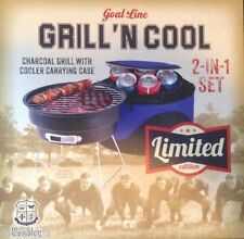 GOAL LINE GRILL 'N COOL CHARCOAL GRILL W/COOLER LIMITED EDITION - Holiday Gift