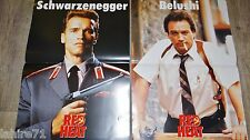 schwarzenegger DOUBLE DETENTE red heat  ! 2 affiches cinema modele rare