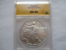 2004 silver eagle ms 68  anacs certified