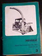 Mengele Maishäcksler Mais-Blitz MB3 Ersatzteilliste