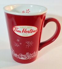 TIM HORTON'S LIMITED EDITION COFFEE MUG 2010 FIREWORKS CITY SKYLINE RARE
