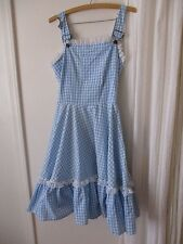 Dorthy Costume Wizard of Oz L Women's Overalls dress Handmade Cosplay Theater