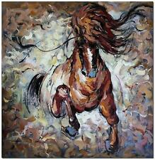Akhal-teke Horse - Signed Hand Painted Wildlife Animal Oil Painting On Canvas
