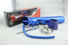 "75mm3"" Car Cold Air Intake Induction Pipe Filter Tube System Universal Blue"