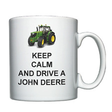 Keep Calm and Drive a John Deere - Personalised Mug / Cup - Tractor Farmer
