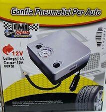 COMPRESSORE PORTATILE PER GONFIARE GONFIAGGIO GONFIA GOMME PNEUMATICI AUTO MOTO