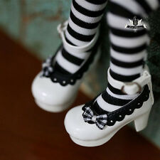 1/6 BJD Shoes Tiny Yosd Dollfie DREAM White bow Shoes Luts AOD SOOM DOD Dollmore