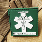 RESCUER GEAR MEDICAL TREATMENT 3D TACTICAL PATCHES ARMY PVC RUBBER VELCRO PATCH