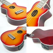 MAHALO LES PAUL ELECTRO-ACOUSTIC UKULELE SUNBURST electric ukelele FREE CASE!
