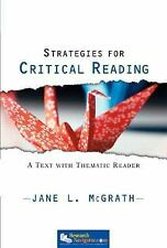 Strategies for Critical Reading: A Text with Thematic Reader