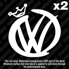 "(2) VOLKSWAGEN VW ""Pimp"" Decal Sticker BEETLE JETTA GOLF GTI MK3 MK4 MK5 MK6 R32"