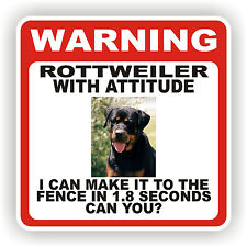ROTTWEILER DOG WARNING SIGN  FENCE 12 X 12 POLY STYRNE
