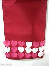"""HOME WEAR VALENTINES HEART TABLE RUNNER PINK RED 13x72"""""""