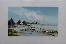 Stéphane LAURO - Lithographie signée et numérotée - Bretagne #250EX