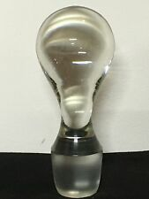 """Vintage 4"""" Solid Heavy Glass Bottle or Decanter Stopper with 1"""" Diameter"""