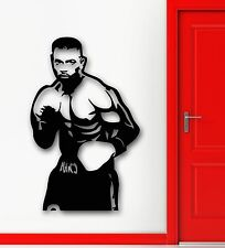 Wall Stickers Vinyl Decal Sports Boxing Martial Arts Athlete Room Decor (ig1582)