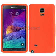 Silicone Soft Slim Rubber Gel Case Cover Skin for Samsung Galaxy Note 4 Orange