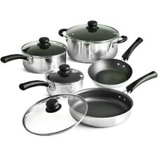 Cooking Non Stick Pots and Pans & Lids 9 Piece Cookware Set Nonstick Tramontina