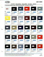 2001 BMW (CAR) PAINT CHIPS (DUPONT AND PPG)