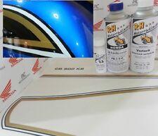 Honda CB 550 Four Color Paint kit Candy Saphire Blue + Decal Stripes Fuel Tank