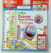 Story reader 3 story  books library sesame street Elmo, grover & cookie monster