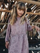 NWT Fall 2016 Authentic Bobo Choses T Shape Dress Doves 6-7 Sold Out!