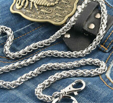 Basic Strong Twisted EMO Biker Trucker Keychain Key Jean Wallet Chain CS39