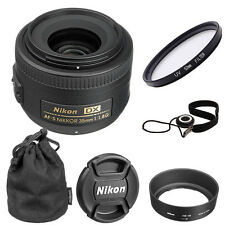 Brand New Nikon 35mm f/1.8G AF-S DX Nikkor Lens + 52mm UV + Lens Cap Keeper
